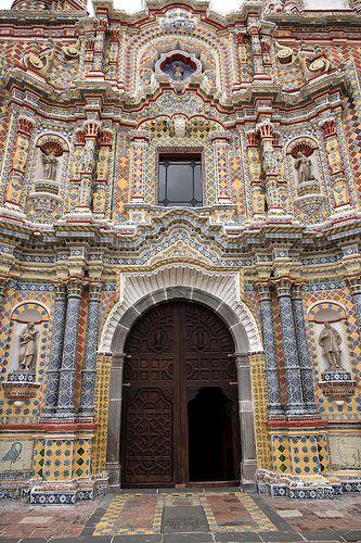 Church of San Francisco . Acatepec . Cholula . Mexico