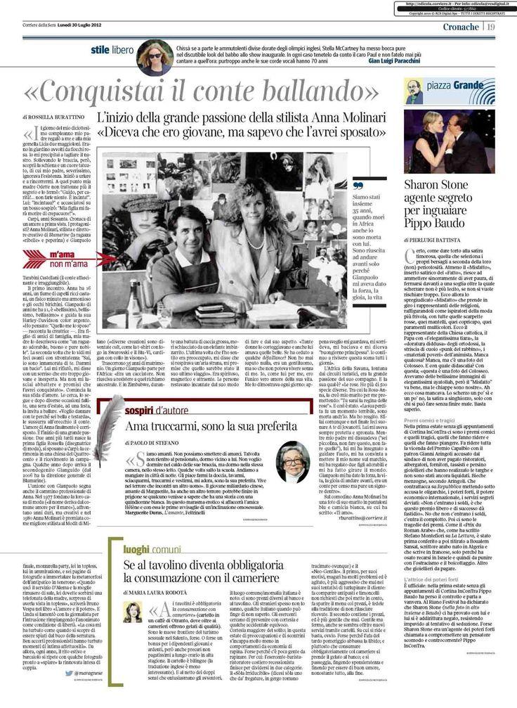 Anna Molinari •Corriere della Sera, Italy –July 2012