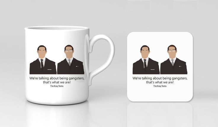 Legend Kray Twins Ronald Reggie Tom Hardy Movie Film Mug & Coaster Gif – Kituout Store
