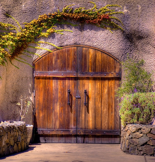 Wine Cave Doors  Doors to the Amizetta Winery caves on Howell Mountain, Napa Valley. August 2009.  By Paul Gaither Photography