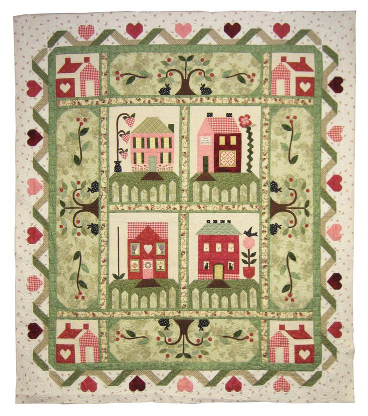 257 best Houses Quilt Themes images on Pinterest | DIY, Children ... : heartbeat quilts - Adamdwight.com