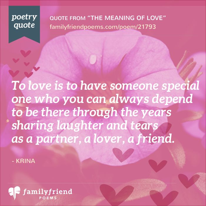 The Meaning Of Love Romantic Poem