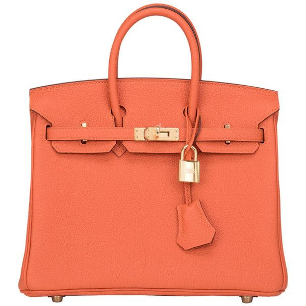 faux ostrich leather handbags - Pre-owned Hermes Feu Togo Birkin 25cm Gold Hardware ($20,750 ...