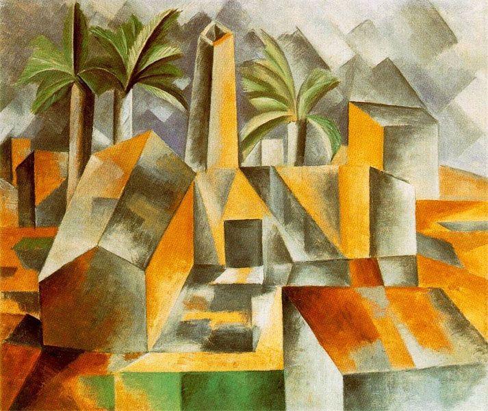 Le cubisme - Pablo Picasso - L'usine (1909).