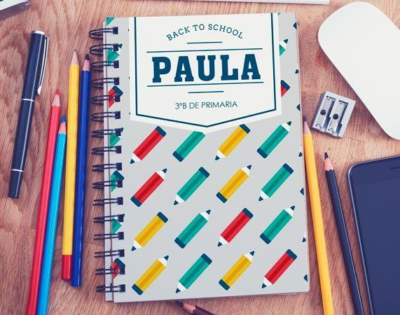 Cuaderno personalizado Lápices de colores