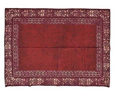 Tappeto in cotone rosso, 120x1x180 cm