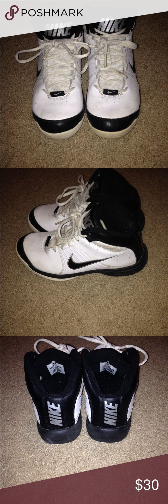 Nike Woman's Basketball Sneakers Nike White & Black Basketball Sneakers - handful of times and then my Daughter grew out of them! Nike Shoes Sneakers