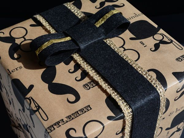 'Chaps' wrapping paper..ideal for packaging a gift for a gent!