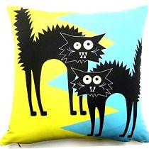 Poduszka z kotami:), dodatki - poduszki, poszewki