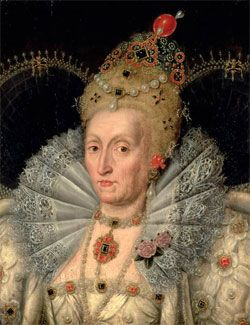 Queen Elizabeth, c.1592 After Marcus Gheeraerts the Younger. Burghley House.