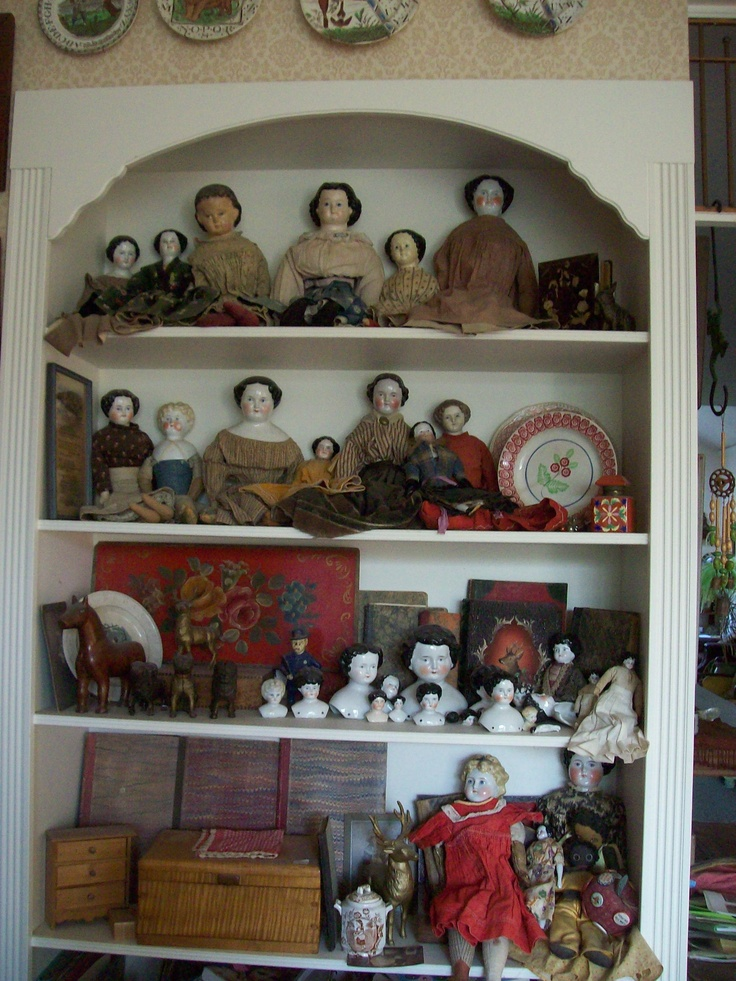 china heads-Pretty maids all in a row.    Wouldn't we collectors love to have a cupboard of these and the accessories!