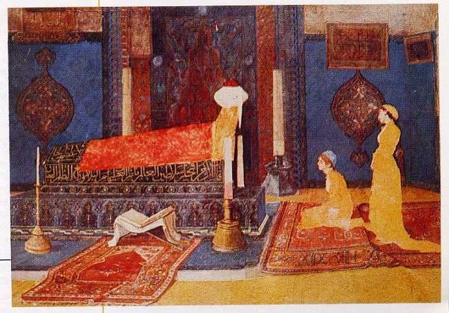 Eastern Art Print Osman Hamdi Tilaveti Reciting Quran