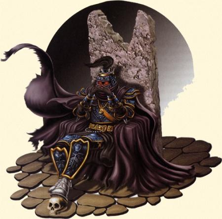 Lord Soth, o cavaleiro da rosa pagando eternamente por trair o coração da jovem elfa negra por toda a eternidade.