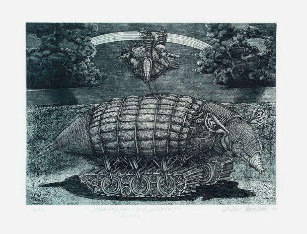 CHALEOPHRATUS VILLOSUS,  28x37 cm, lept / etching
