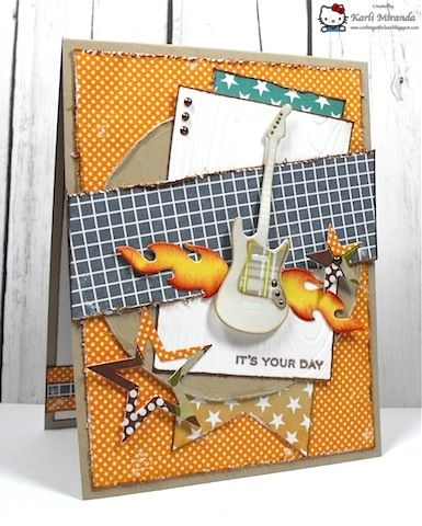 MFTWSC124 Rockin Bday Boy by maestra - Cards and Paper Crafts at Splitcoaststampers