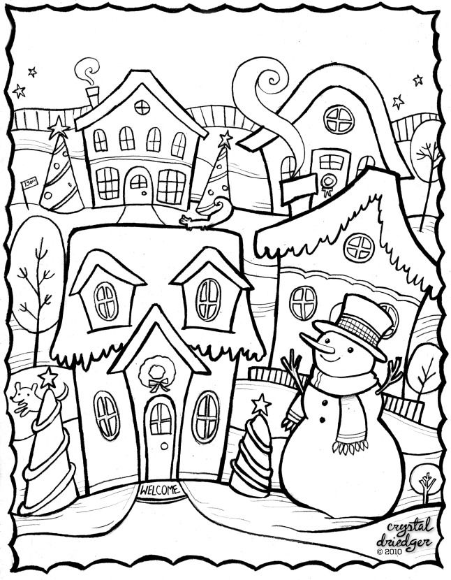 Free coloring pages, by crystal Driedger Crystal Drieder