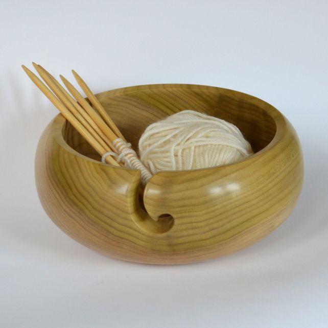 Knitting Bowls Wood : Large tulip wood yarn bowl hand made pinterest