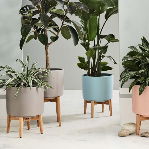 Give your plant a special spot all its own with one of these colorful retro floor pots.…