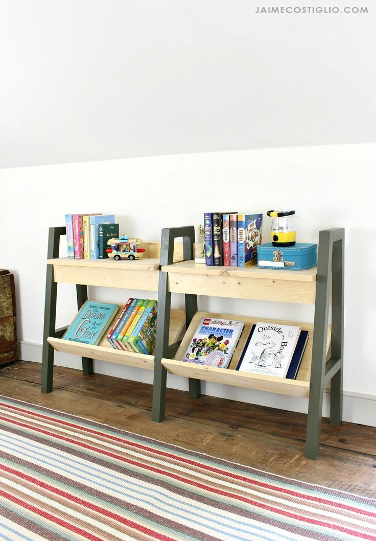 Modern Kids Bookrack | Ana White | Bloglovin'