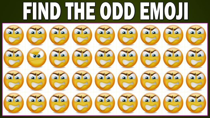 Find The Odd Emoji One Out   New Emoji Puzzles   Can You Spot The Odd Ob...