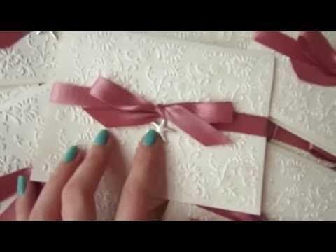 Partecipazione origami tutorial - YouTube