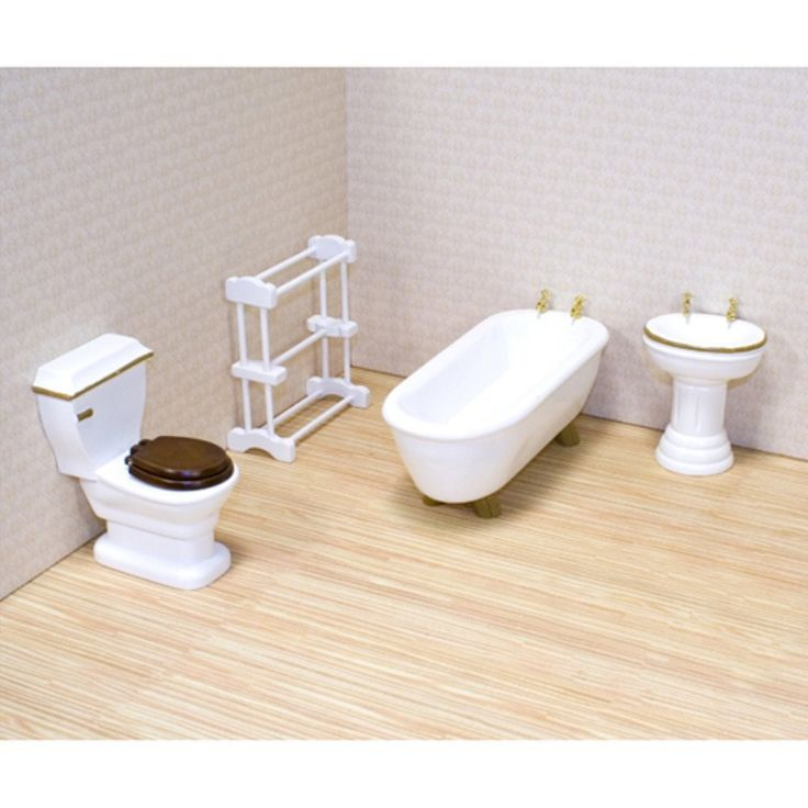 Melissa and Doug Victorian Bathroom Furniture Set - 1 in. Scale - Toy Dollhouse Accessories at Hayneedle