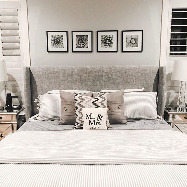 Master Bedroom Ideas Upholstered Bed Wayfair Bed King Bed Gray Bed Master B Printable Wall Art Bedroom Master Bedroom Wall Art Bedding Master Bedroom