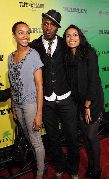 "Leon Robinson Photos: Premiere Of Magnolia Picture's ""Marley"" - Red Carpet - Ebony McIver, Leon Robinson and Rosario Dawson arrive for the premiere of Magnolia Picture's ""Marley"" at ArcLight Hollywood on April 17, 2012 in Hollywood, California."