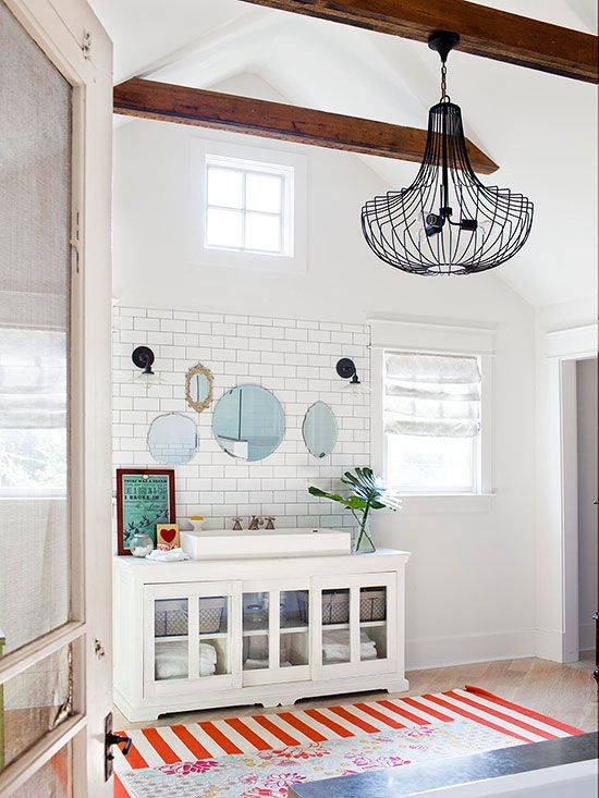 Vintage cottage renovation master bath vanities and for Cottage bathroom ideas renovate