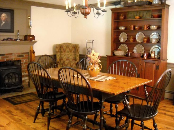 514 best colonial dining rooms images on pinterest | primitive