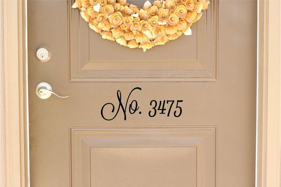 Custom House Number Vinyl Door Decal - Address Decals, Home Office Decorations, Custom House Number Vinyl Decals, Vinyl Numbers, 8.5-14.5x5