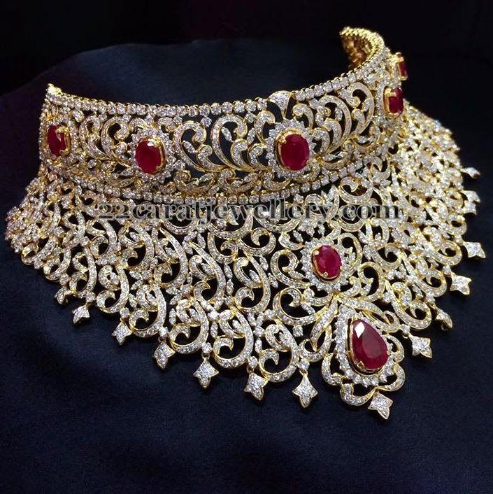 Jewellery Designs: Tremendous Set by Sri Raj Jewellers