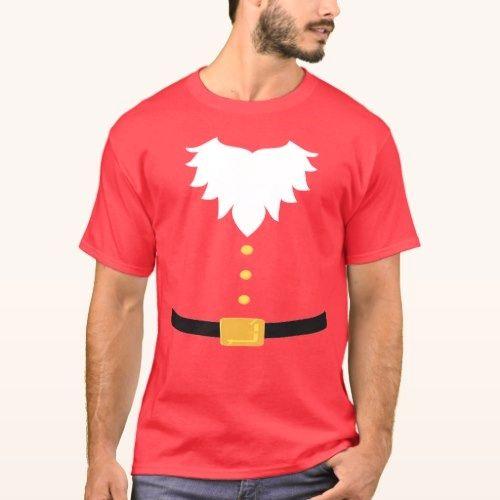 Weihnachtsmann Bart und Gürtel T-Shirt   – Christmas gifts