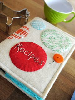 blu-shed: recipe book cover. a tutorial by lu summers. oh, & another giveaway.                                                                                                                                                     More