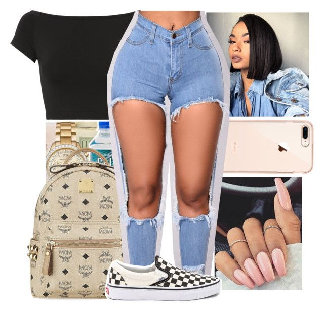 """""""Untitled #30"""" by aaliyah-marie1 ❤ liked on Polyvore featuring Helmut Lang, MCM and Vans"""