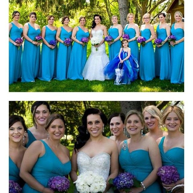 Perfect Bride and her beautiful bridal party! Bridal party hair by Melissa.  Bride and bridal party hair and make up by me.