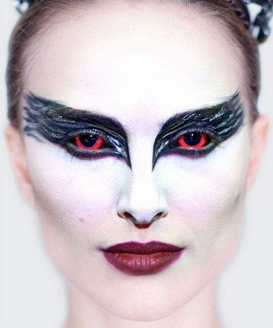 white eyed holloween costume | Black Swan – The Makeup – Q