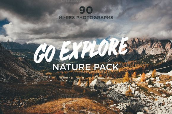 Check out Go Explore Nature photo pack by Madebyvadim on Creative Market