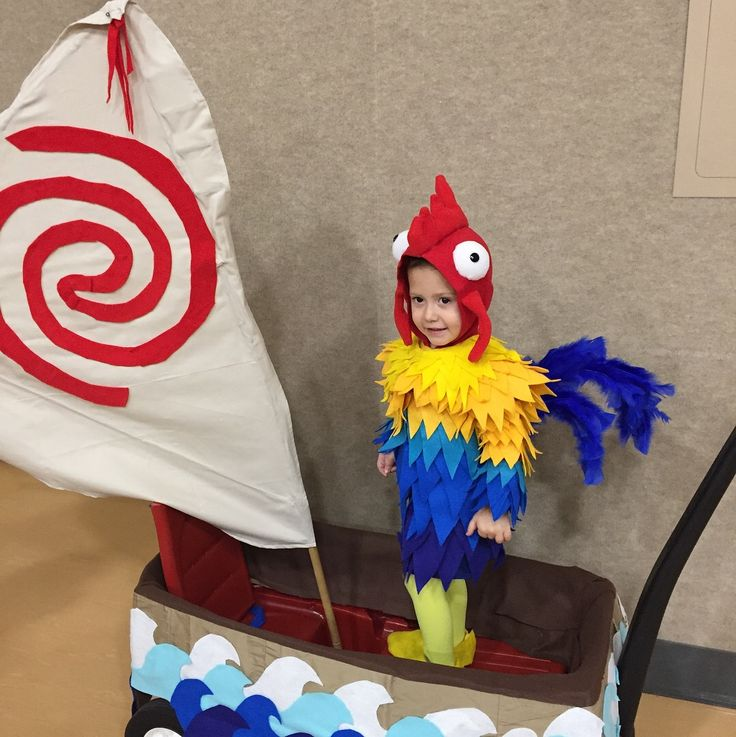 Hei hei from Moana and his little boat--chicken costume