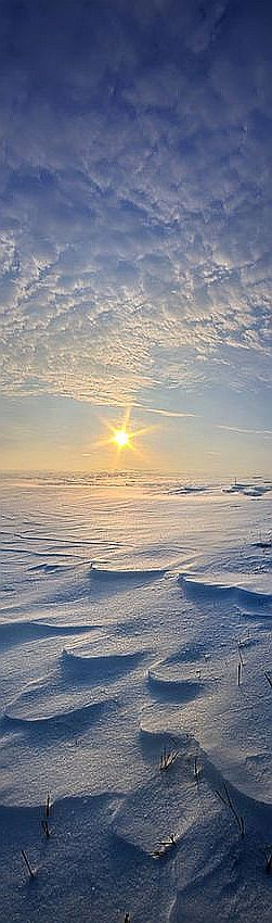 Out Of The East #photo by Phil~Koch #sun sunshine sunset sky winter snow ice white blue landscape nature amazing