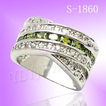 925 Sterling Silver CZ Endless Ring S 1860