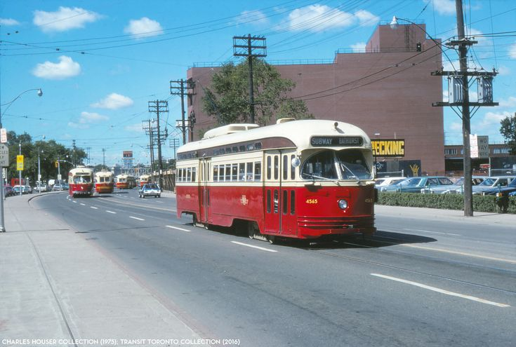 PCC 4565 Toronto TTC on Lake Shore, with the former brewery in the background. This is all condos now.