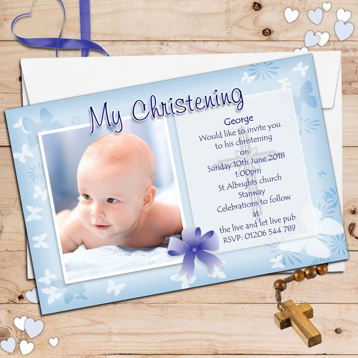 17 Best images about baptism invitations – Walmart Photo Invitation Cards