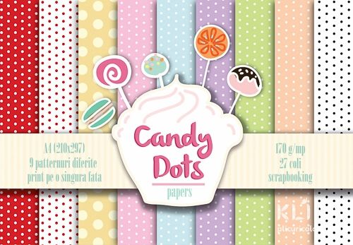 Candy Dots pattern papers