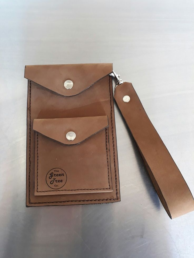 Leather cellphone holder with wallet