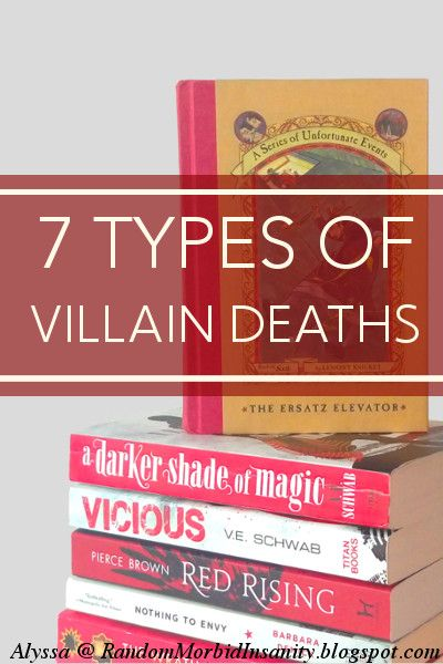 7 Types of Villain Deaths: Which is the best of them? Which one have you written? Read this post for an analysis of these deaths + tell us which is your favourite to write + bonus death scene in action!