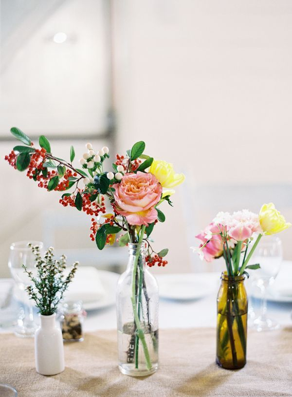 Australian Beach Wedding, Flower Centerpieces