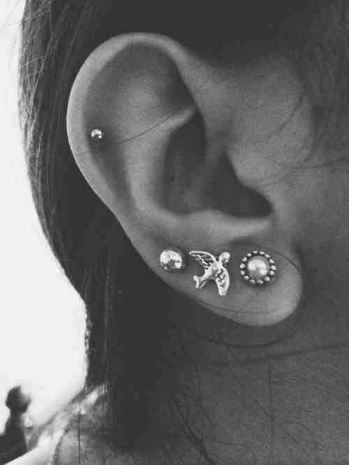 Earrings // multiple ear piercings                                                                                                                                                      More