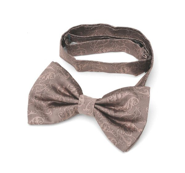 Romantic Dusty Pink Patterned Bow Tie