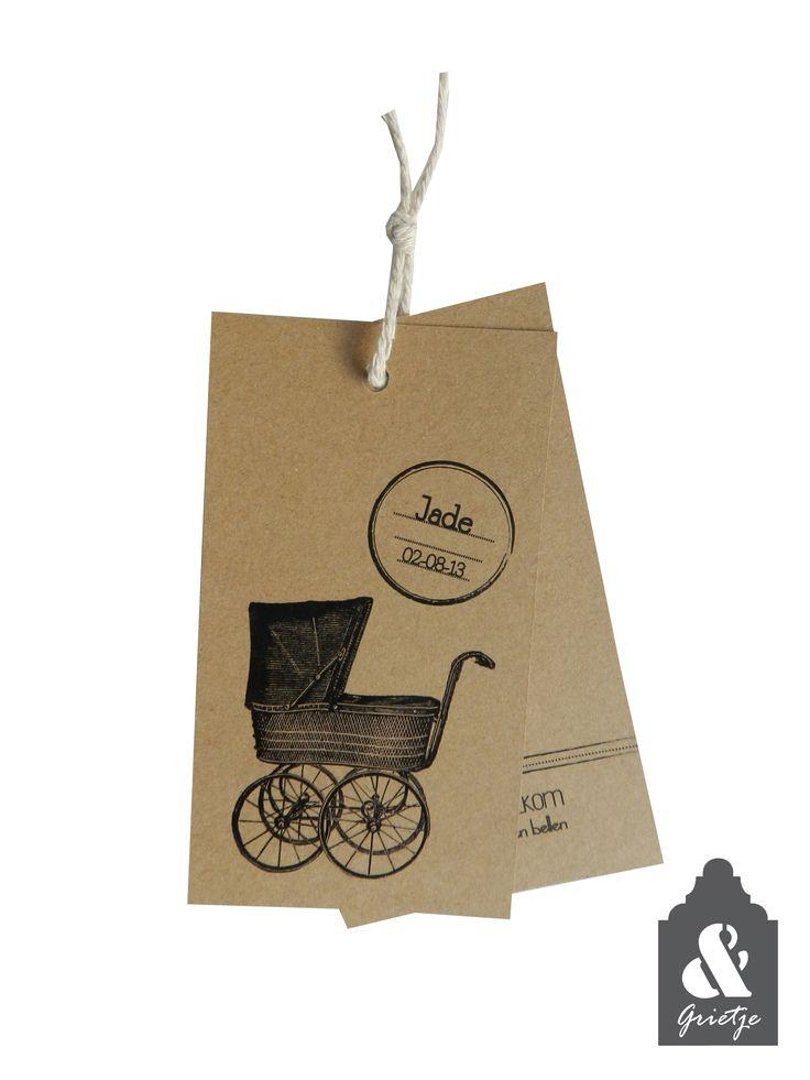 #vintage #geboortelabel #geboortekaart #kraftlabel  By Huis & Grietje http://www.huisengrietje.nl/a-30169495/geboortelabels/vintage-geboortelabel-jade/